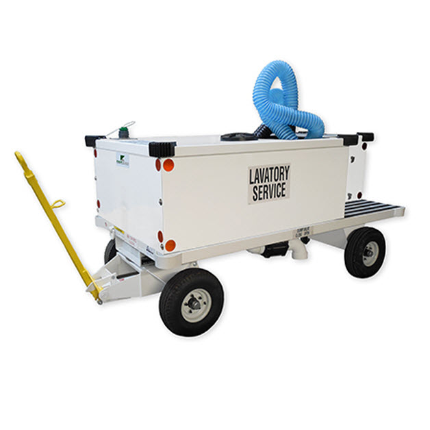 Airport GSE. Lavatory Cart. Airport ground support equipment in western Canada.