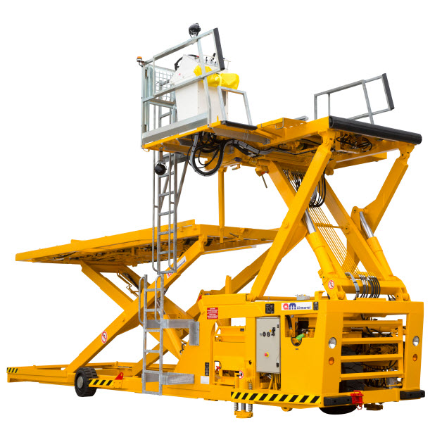 LAM 3500 kg capacity (7800 Lbs.) Cargo Loader. Ground equipment services. Avro GSE. Thumbnail.